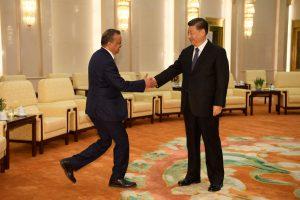 बीजिंग: येथील ग्रेट हॉल ऑफ चायना मध्ये शी-जिनपिंग यांची भेट घेताना डॉ. टेड्रोस