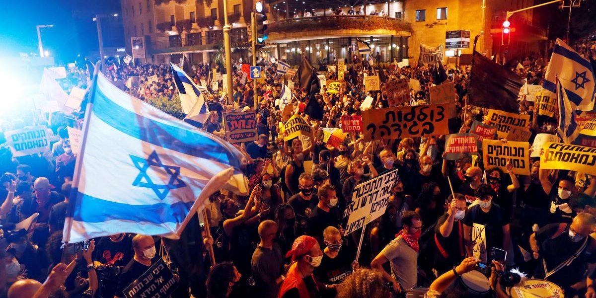 नेत्यान्याहूंच्या विरोधात जेरुसलेममध्ये तीव्र निदर्शने