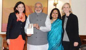 नरेंद्र मोदी यांच्याबरोबर आंखी दास (२०१४ )