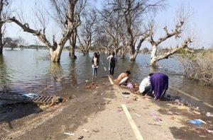 सगळेच रस्ते असे पाण्यात जातात. चोहीकडे नुसतंच पाणी.