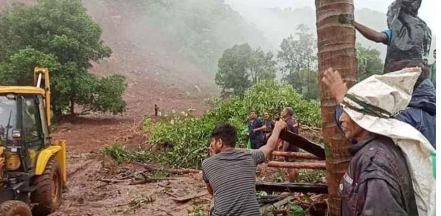 तळईमध्ये दरड कोसळून ३६ मृत्यू , ४० बेपत्ता